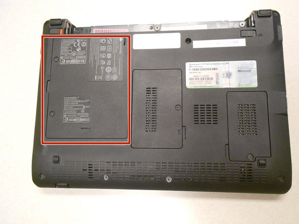 The hard drive is located under this cover.
