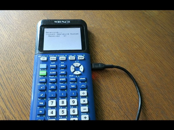 DO NOT UNPLUG THE CABLE DURING TRANSFER! You risk damaging your calculator!