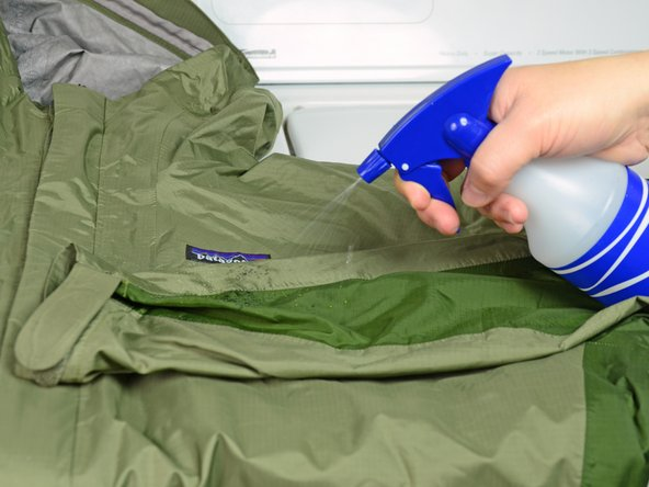 Spray the jacket with water.