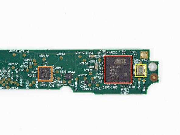 Atmel MXT1386 touchscreen controller
