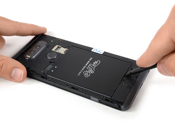 Before disassembling your phone, discharge the battery below 25%. A charged lithium-ion battery can catch fire and/or explode if accidentally punctured.