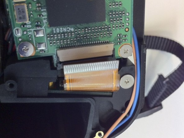 Pull the ribbon cable out of its socket.