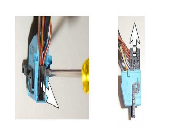 Image 1/3: Connect Switching module BLUE wire into Pin 17 on the BLUE plug on your TV video module.