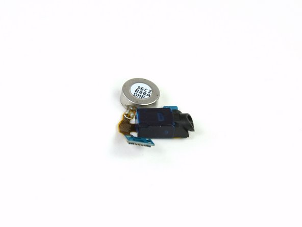 Image 2/3: The headphone jack/vibrator motor assembly is manufactured by Samsung, labeled as SPH-D710_EAR.