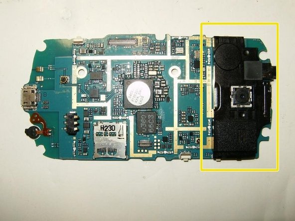 This is the speaker module. In the center is the camera, but it is not part of the module.