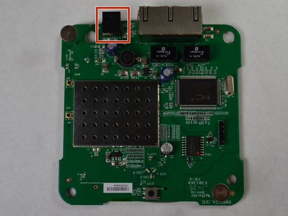 Locate the Power port on the circuit board, shown with the red box in the first image.