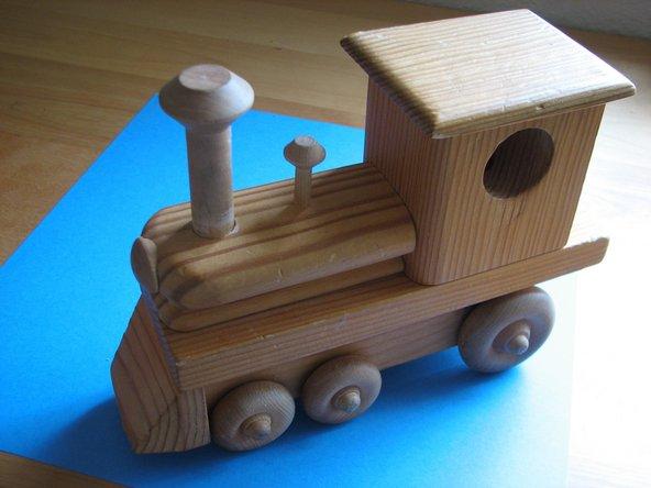 Choo-choo, the steam locomotive is as good as new.