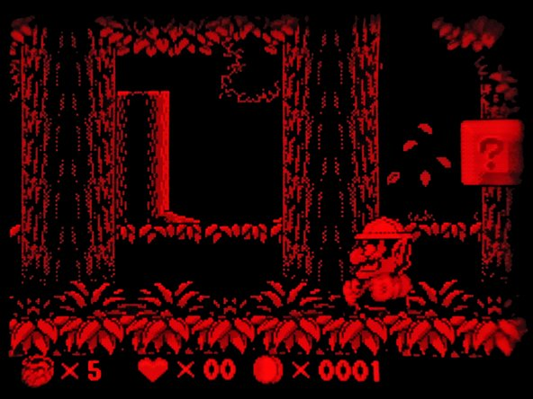 Image 2/2: No, that is not an infared image of Wario. The Virtual Boy took full advantage of the three shades of red available to create on-screen images.