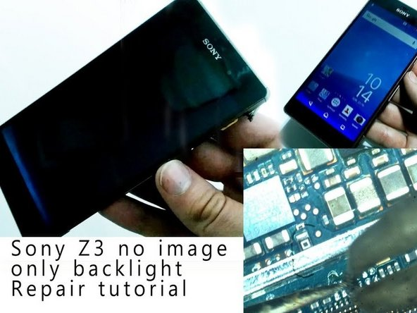 How to fix no image/black screen issue in Sony Xperia Z3