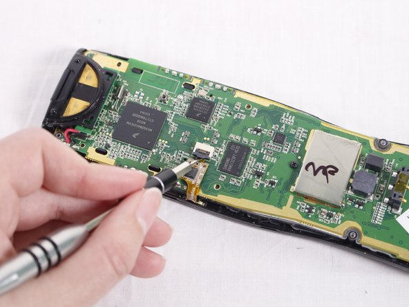 When you look at the circuit board, you should see a ribbon attaching the board to the plastic casing.
