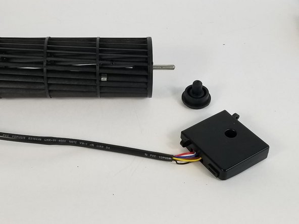 Take out the fan cylinder and the circuit board enclosure.