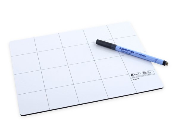 This handy mat can be your best friend during a replacement. Be sure to take advantage of the dry erase surface and keep track of your screws and steps along the way! You won't regret it.