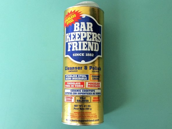 "Obtain a product called ""Bar Keeper's Friend""."