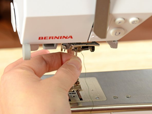 Each sewing machine is a little bit different, so check your user's manual if you aren't sure how to change your needle.