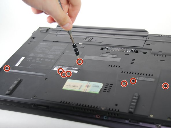 Remove the eight 14mm screws using the Phillips #0 Screwdriver.