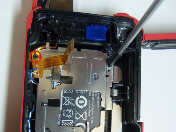 To remove the battery housing, you must first use a Phillips size 00 to remove the 4 screws.