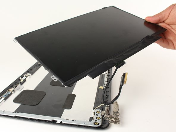 Lift the screen itself away from the rest of the assembly.  Place it face down next to the rest of the assembly.