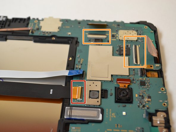 Use a spudger to flip up the retaining flap on the  ribbon cable ZIF sockets.