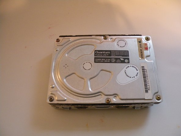 The hard drive: A Quantum ProDrive LPS, made in 1990, and surprisingly, it still works!