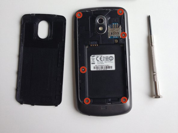 Remove the back cover, battery and sim-card, I'm sure you've done this a couple of times before.
