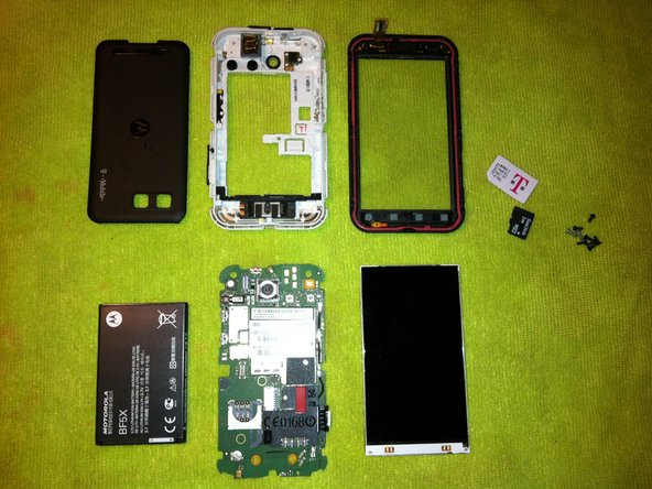 Thats it now just follow these steps in reverse to put your phone back together.