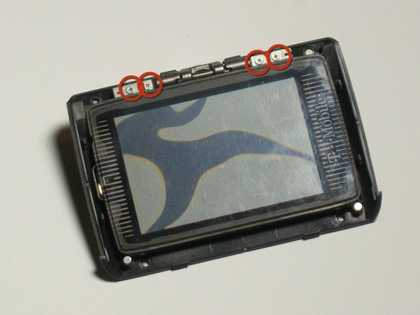Image 1/3: Pay attention to the orientation of the screen on the backing because it is difficult to reassemble.