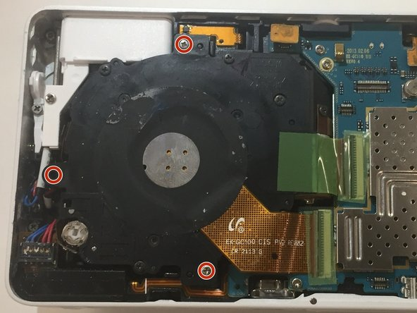Image 1/2: Carefully remove the lens and motherboard from main housing.