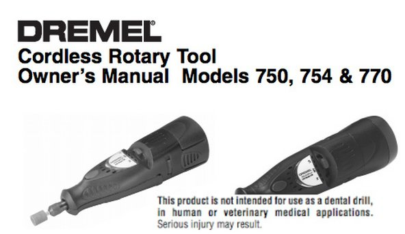 Dremel tool manuals