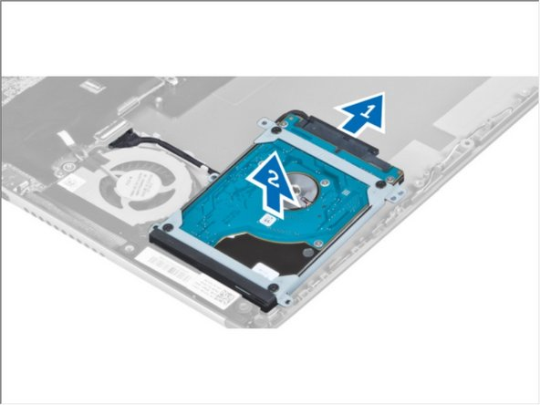 Disconnect the hard-drive cable from the hard drive and remove the hard drive from the computer.