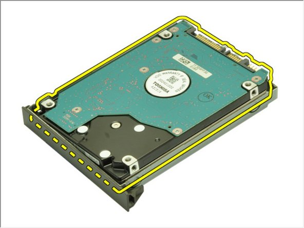Remove the hard drive from the hard drive bracket.