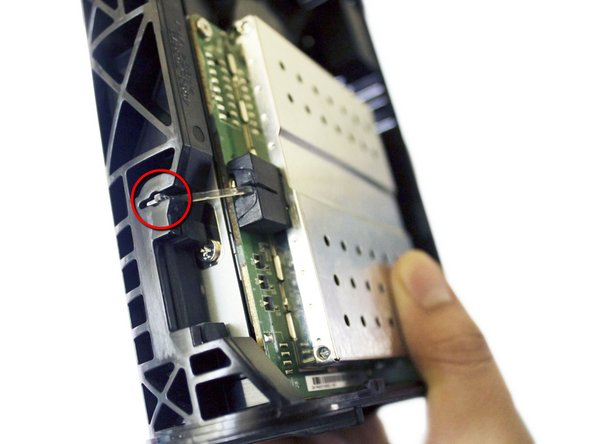 We remove the small plastic LED extension from the front of the unit.