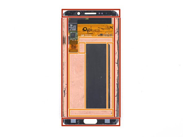 The display edges are secured by strips of strong foam adhesive.