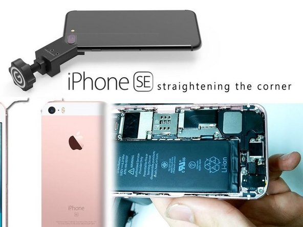 How to straighten the frame in an iPhone SE