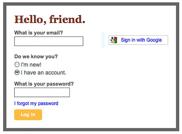 OpenID login page