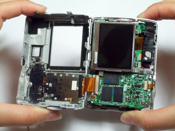 The front case is attached to internal components and cannot be removed independently.
