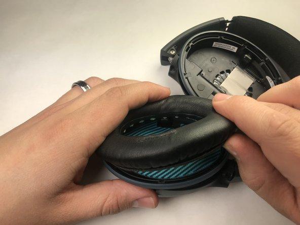 Begin repair by removing the ear cushion.