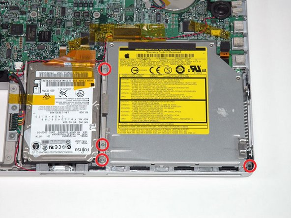 "PowerBook G4 Aluminum 15"" 1.5-1.67 GHz Optical Drive Removal Replacement"