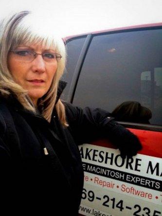 Jodi with her Lakeshore Mac truck