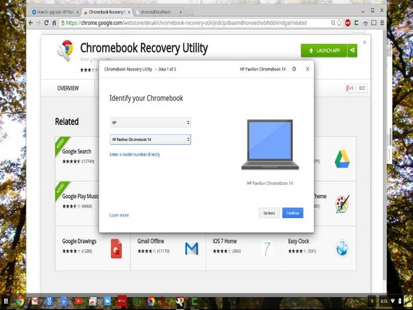 "Make a backup of existing SSD so you can restore the chromeos image into the new SSD. The backup is done with the ""Chromebook Recovery Utility"" from chrome web store as shown in 1st image. You will need a empty 4gb thumb drive."