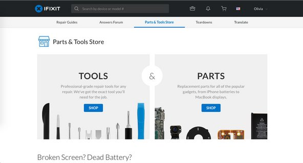 iFixit website redesign parts store