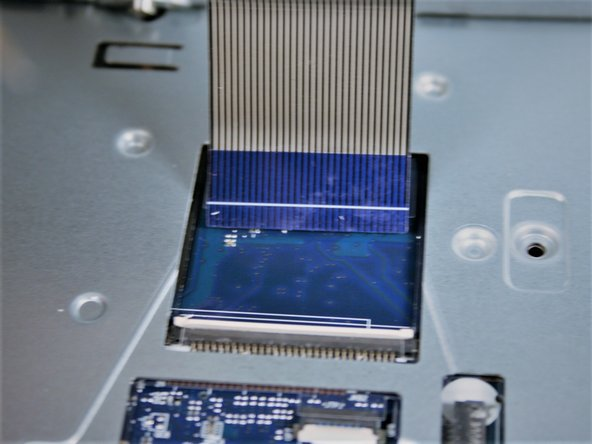 Keyboard ribbon cable removed