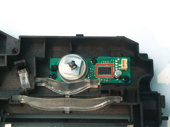 The chip on the motor board is an AN44010A, most likely some sort of brushless motor driver, although no datasheet could be found.