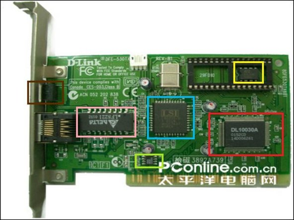 Image 1/2: DL10030A Is 10.0mm x 33mm PCI interface Controller from D-Link.