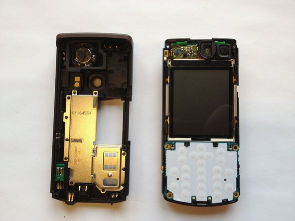 Remove the front panel by lifting the panel away from the phone at a 45 degree angle.