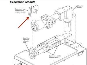 Newport e500 Exhalation Module Disassembly