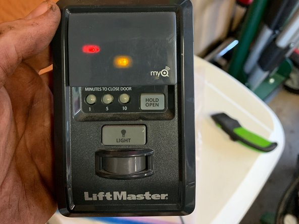 liftmaster garage will not open, red/yellow led blink and beep