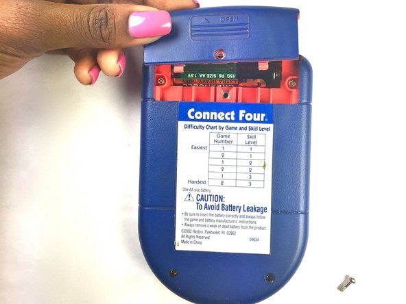 Connect Four Electronic Handheld Battery Replacement