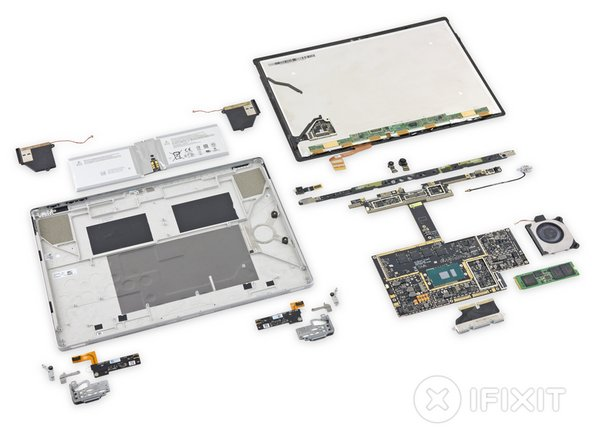 The Microsoft Surface Book (as a whole) earns a reparability score of 1 out of 10 (10 is easiest to repair).