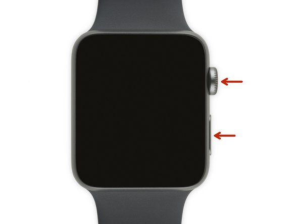 If your Apple Watch is charging, unplug it from the charger, or this procedure won't work.