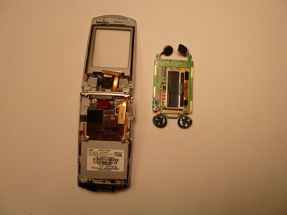Completely remove the screen and circuit board unit from the cell phone.